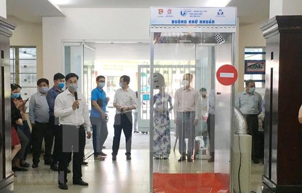 Crean en Vietnam camaras moviles que permiten desinfectar el cuerpo en 30 segundos hinh anh 1
