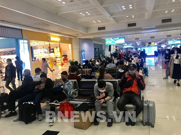 Aeropuerto vietnamita de Noi Bai recibe a mas de 270 retornados hinh anh 1