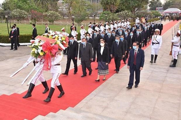 Celebra Laos aniversario 65 de la fundacion del Partido Popular Revolucionario hinh anh 1