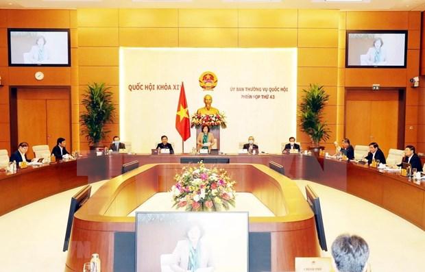 Inauguran reunion 43 del Comite Permanente del Parlamento vietnamita hinh anh 1
