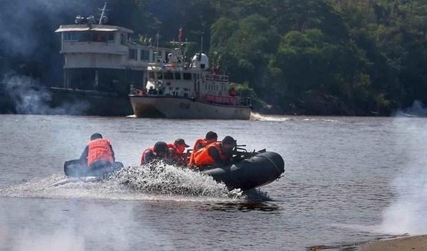 China, Laos, Myanmar y Tailandia realizan patrulla conjunta en rio Mekong hinh anh 1
