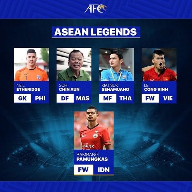 Delantero vietnamita exaltado entre cinco leyendas del futbol en Asia hinh anh 1