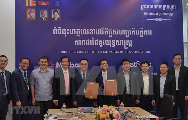 Fortalecen cooperacion entre filiales de empresa y banco vietnamitas en Camboya hinh anh 1