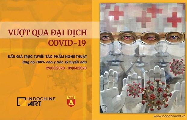 Realizaran subasta de obras artisticas para apoyar lucha contra COVID-19 en Vietnam hinh anh 1