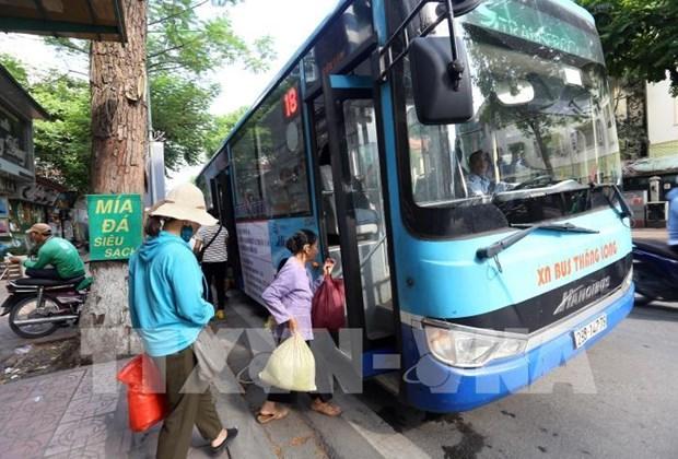 Reduce Hanoi el 80 por ciento de los viajes en autobus hinh anh 1