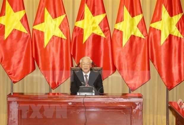 Llama maximo dirigente de Vietnam a unidad nacional en enfrentamiento al COVID-19 hinh anh 1