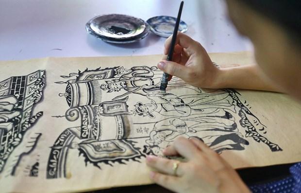 Presentara Vietnam a UNESCO documentos para reconocimiento de pintura de Dong Ho como patrimonio cultural hinh anh 1