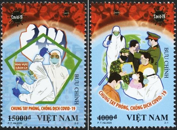 Vietnam busca elevar conciencia publica sobre el coronavirus con la emision de sellos hinh anh 1