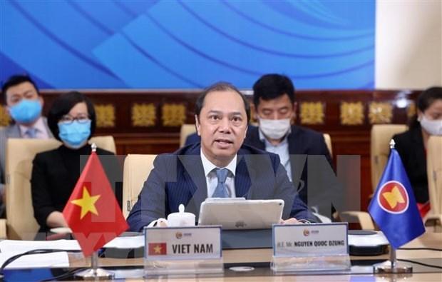 ASEAN y Estados Unidos por intensificar coordinacion en lucha contra COVID-19 hinh anh 1