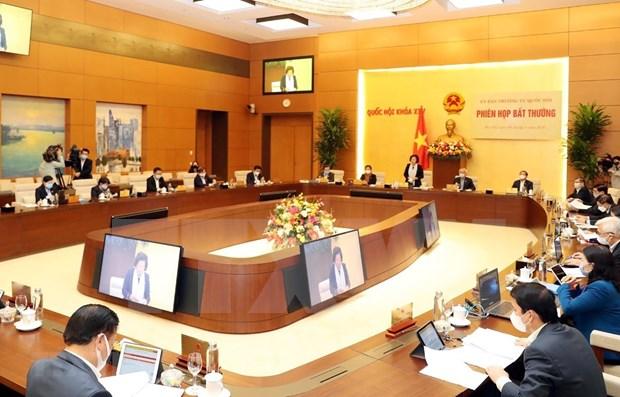 Comite Permanente del Parlamento vietnamita debate politicas de respaldo a pobladores hinh anh 1