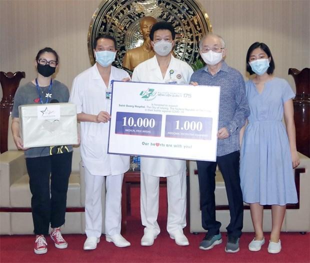 Hospital vietnamita ayuda a socio aleman en el combate contra el COVID-19 hinh anh 1