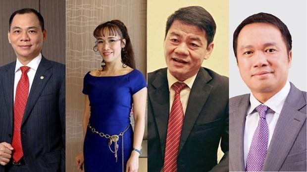 Cuatro empresarios vietnamitas aparecen en la lista de multimillonarios de Forbes hinh anh 1