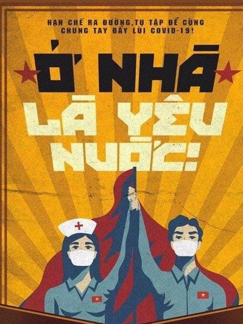Periodico britanico destaca carteles vietnamitas en lucha contra el COVID-19 hinh anh 1