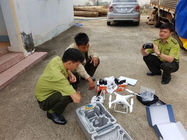Provincia vietnamita usa aviones no tripulados para patrullar bosques hinh anh 1