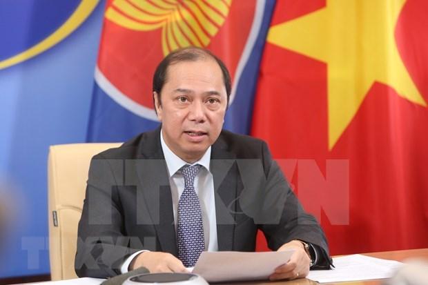Cancilleres de ASEAN acuerdan establecer fondo de respuesta al COVID-19 hinh anh 1