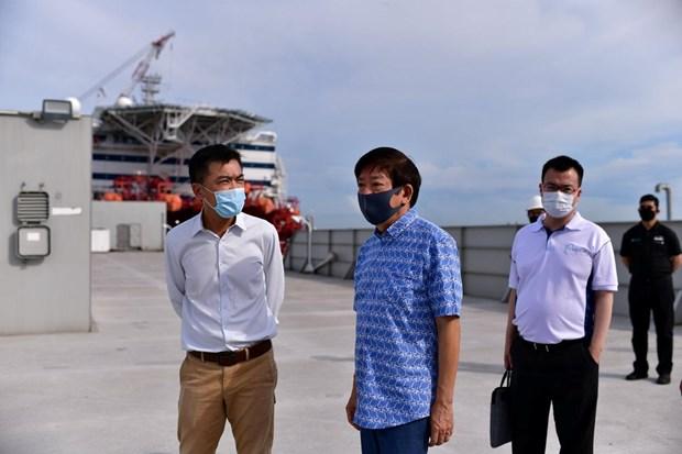 Singapur prepara casas flotantes para trabajadores migrantes ante brote de COVID-19 hinh anh 1