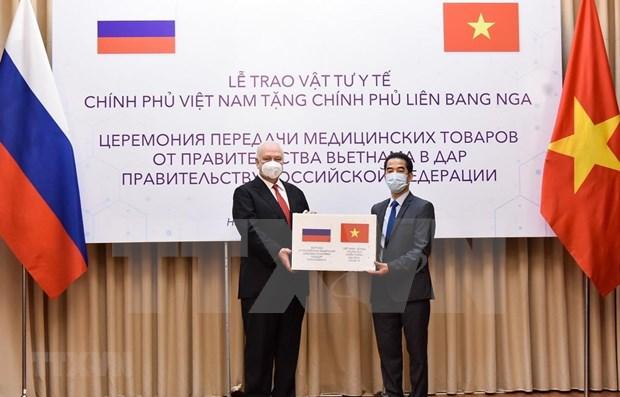 Ofrece Vietnam mascarillas sanitarias a Rusia hinh anh 1