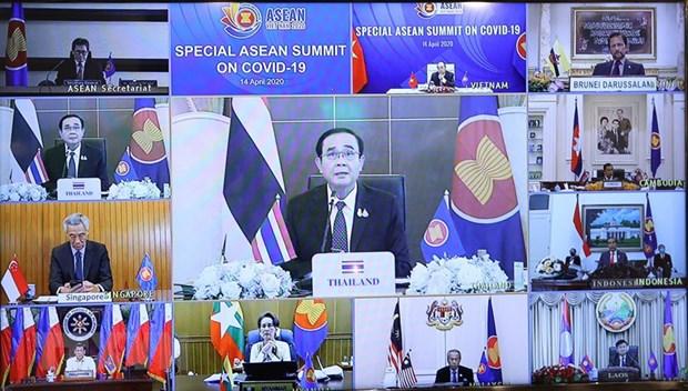 Medio tailandes resalta cumbre especial de la ASEAN sobre COVID-19 hinh anh 1