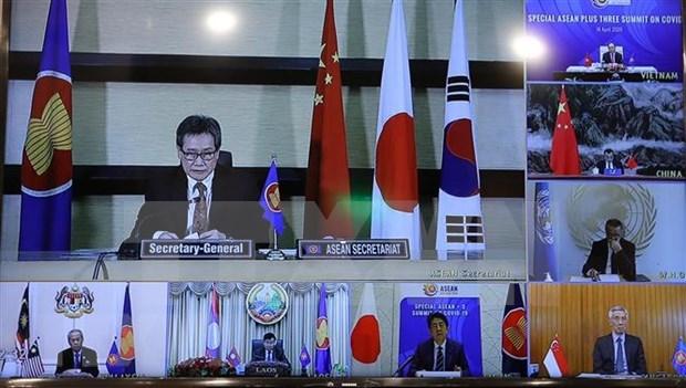 Secretario general de ASEAN destaca el liderazgo de Vietnam de la region en la respuesta al COVID- 19 hinh anh 1
