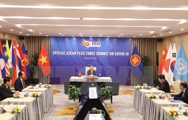 ASEAN emite declaracion de cumbre especial sobre COVID- 19 hinh anh 1