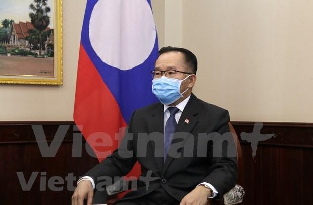 Laos valora papel de Vietnam en construccion de comunidad regional hinh anh 1