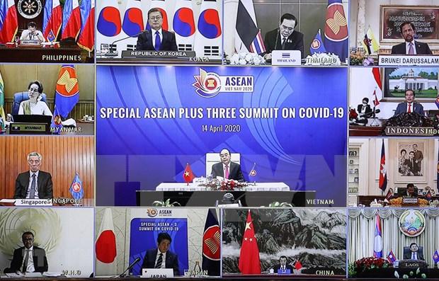 ASEAN+3 reafirma respaldo mutuo en lucha antiepidemica hinh anh 1