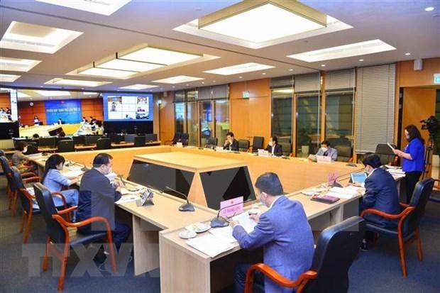 Emprenden reunion 27 de la Comision de Asuntos Legales del Parlamento vietnamita hinh anh 1