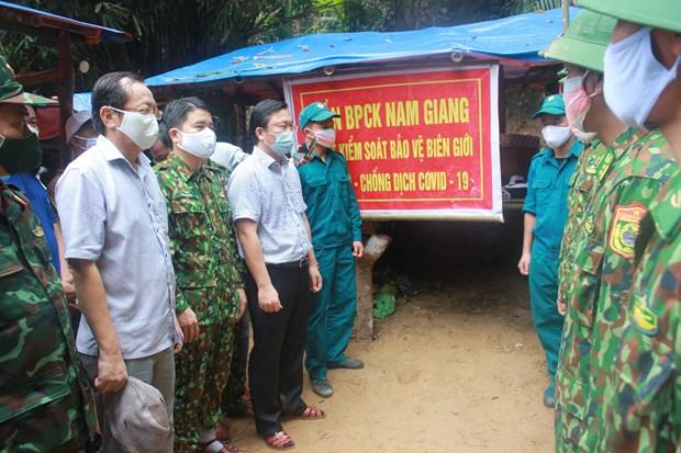Fortalecen control de COVID-19 en zonas fronterizas entre Vietnam y Laos hinh anh 1