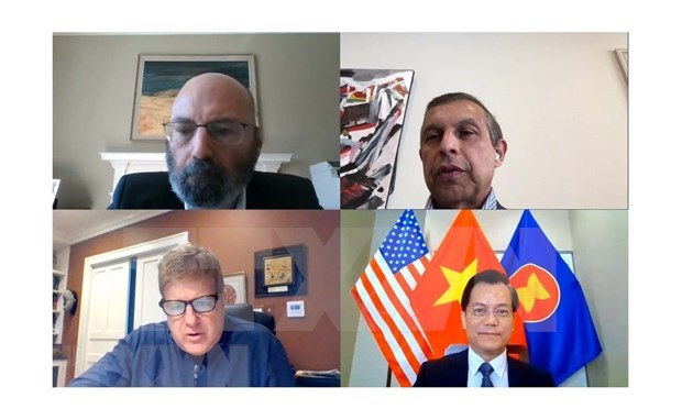 Empresas estadounidenses dispuestas a cooperar con ASEAN en combate contra el COVID-19 y la recuperacion economica hinh anh 1