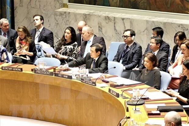 Vietnam finaliza con presteza informe mensual como presidente del Consejo de Seguridad de la ONU hinh anh 1
