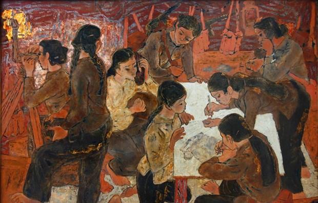 Presentan obras artisticas sobre guerra contra invasion estadounidense hinh anh 1