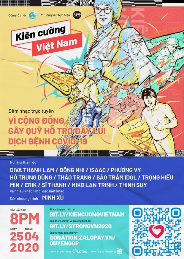 Celebraran en Vietnam velada musica en ciberespacio a favor de la lucha contra el COVID-19 hinh anh 1
