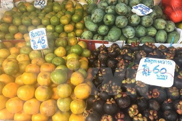 Tailandia lanza sistema de venta ambulante de frutas y verduras en medio de COVID-19 hinh anh 1