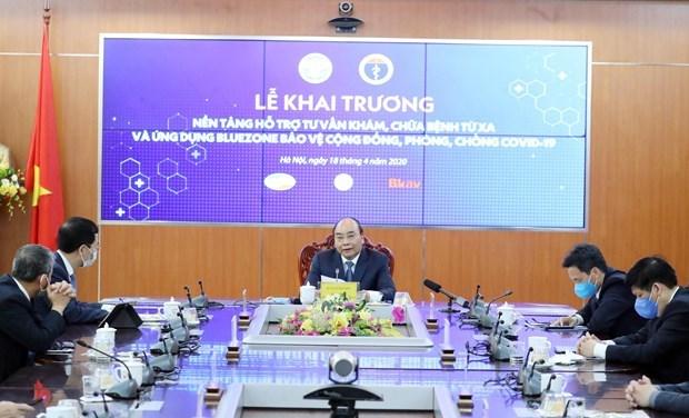 Lanza Vietnam plataforma de control remoto de salud y la aplicacion de prevencion contra COVID-19 hinh anh 1