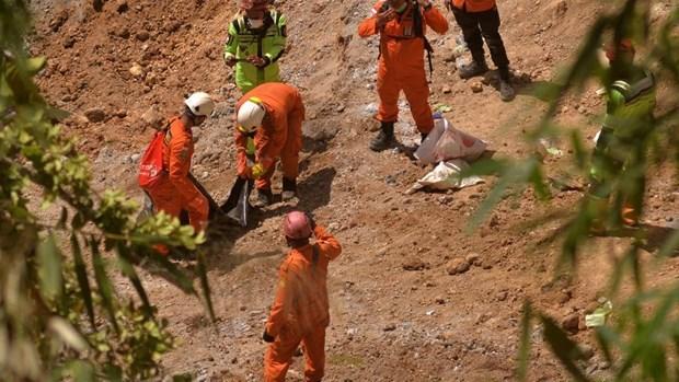 Deslizamiento de tierra causa nueve muertos en Indonesia hinh anh 1