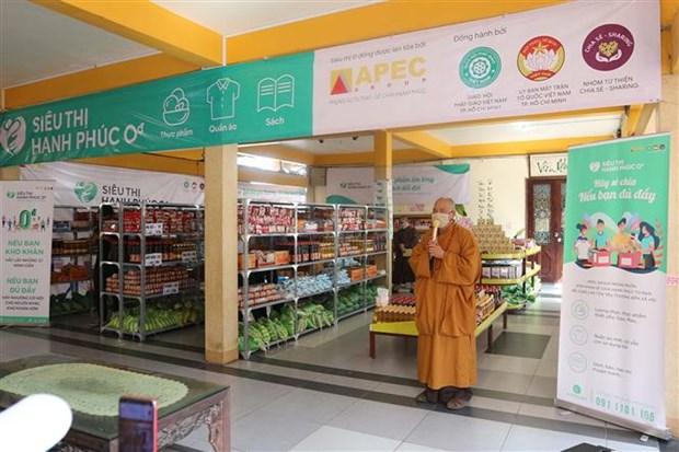 """Crean supermercado """"cero dong"""" en Vietnam para apoyar a los pobres y afectados por el COVID-19 hinh anh 1"""