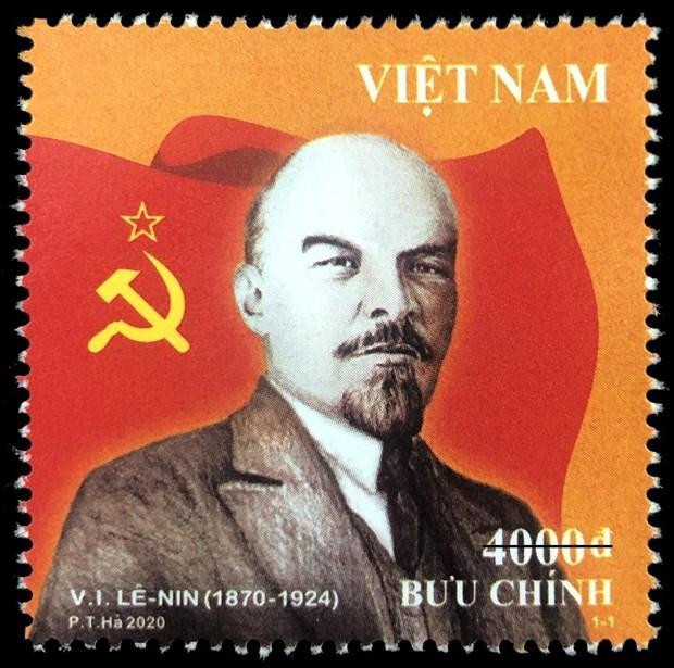 Presentan en Vietnam coleccion de estampillas dedicadas a Lenin hinh anh 1