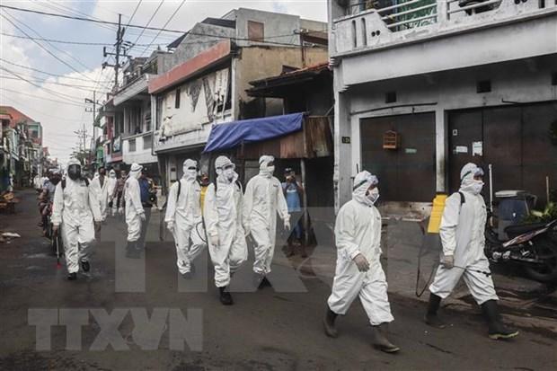 Indonesia confirma 375 casos nuevos del COVID-19 hinh anh 1