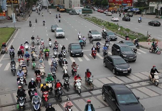 Levanta Hanoi restricciones de distanciamiento social hinh anh 1