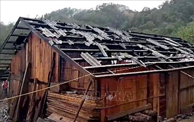 Lluvias causan graves danos en provincias montanosas del norte de Vietnam hinh anh 1