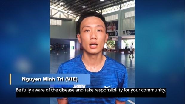 Jugador vietnamita de futsal se suma a campana de AFC contra el COVID-19 hinh anh 1