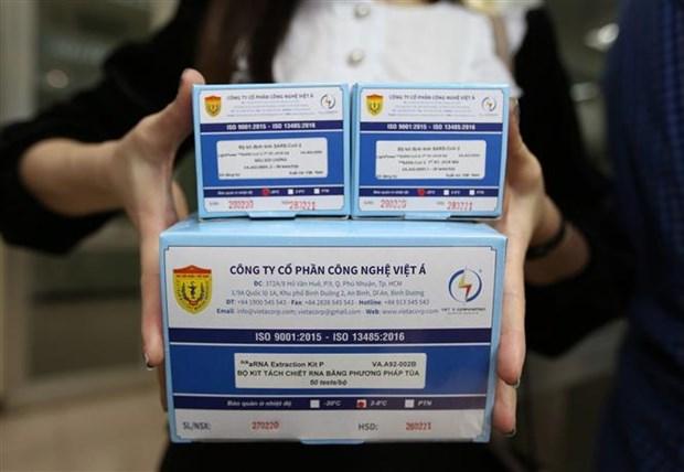 Certifican OMS y Reino Unido kit de prueba COVID-19 de Vietnam hinh anh 1