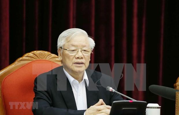 Maximo dirigente de Vietnam resalta importancia de preparacion del personal para XIII Congreso partidista hinh anh 1