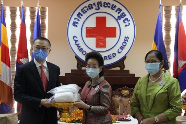 Cruz Roja de Vietnam dona suministros medicos a Camboya hinh anh 1