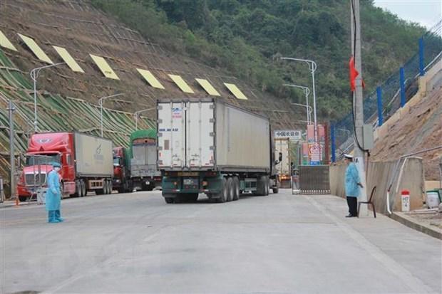 Reanudan despacho aduanero en par de puertas fronterizas entre Vietnam y China hinh anh 1