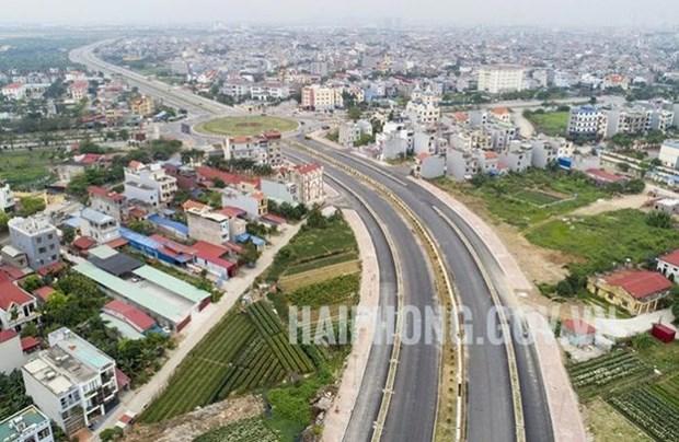 Abierta al trafico via arterial de ciudad vietnamita de Hai Phong hinh anh 1