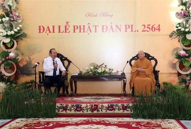 Felicita vicepremier permanente de Vietnam a seguidores budistas por Dia de Vesak hinh anh 1