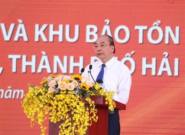 Asiste premier vietnamita a inauguracion del proyecto de preservacion de reliquias historicas hinh anh 1
