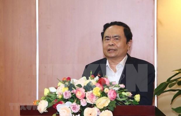 Felicita Frente de la Patria de Vietnam a comunidad budista por el Dia de Vesak de la ONU hinh anh 1
