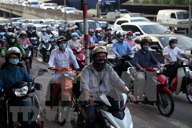 Hanoi mantiene el distanciamiento social pese a alivio de restricciones hinh anh 1